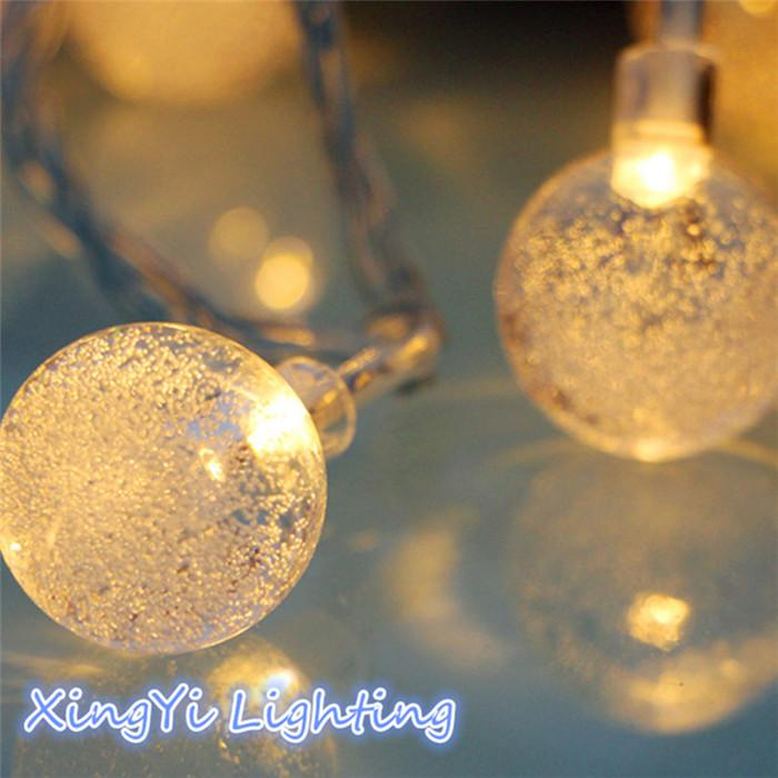 wholesale 1x 2m 20 led pendant string light battery waterproof crystal balls bubble christmas wedding decoration luminary twinkle strip decorative mini