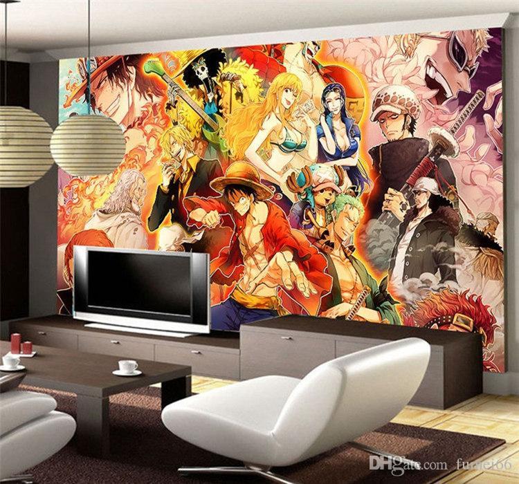 anime japonés 3D de una pieza de papel tapiz Fondo dibujos animados mural de la pared para las paredes fotografía de fondo de los niños dormitorio TV telón de fondo la decoración del sitio