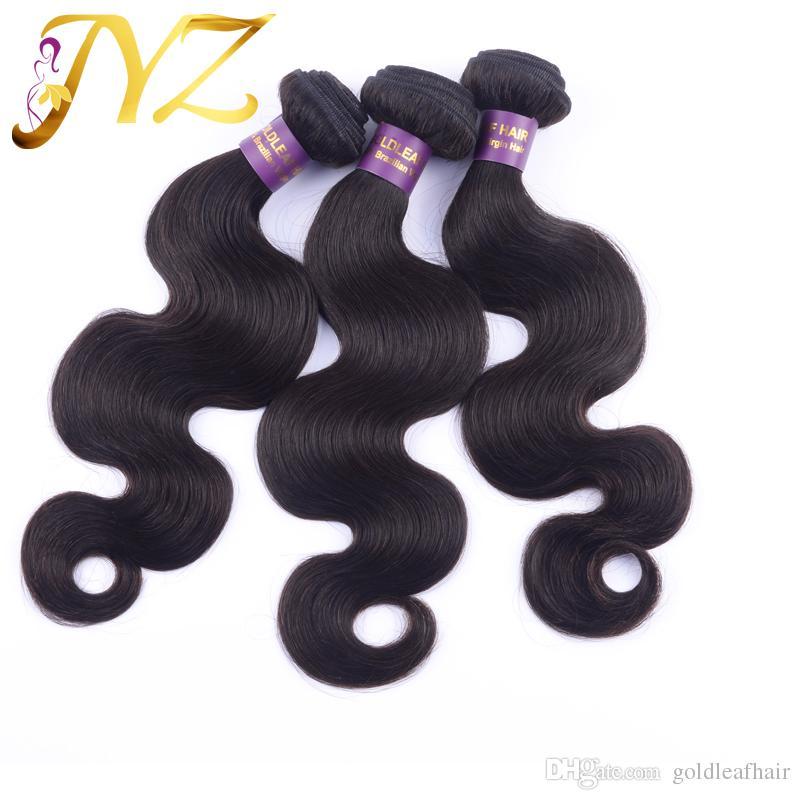 La armadura brasileña sin procesar del pelo humano de la onda de la onda del cuerpo mezcló extensiones peruanas malasias del cabello humano de 8-30 pulgadas del color natural