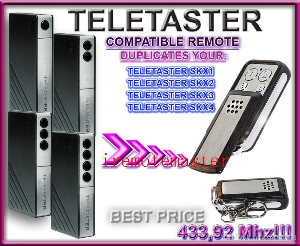 Garage Door Remote For Teletaster Skx1skx2skx4skx3 Remote Control