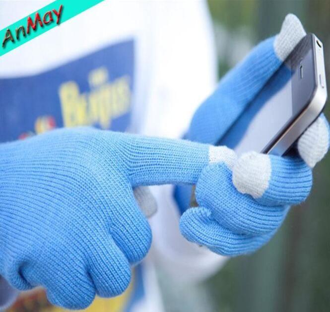 Preço de fábrica Quente Novo Inverno Magia Luvas de Tela Sensível Ao Toque de Smartphone Texting Estiramento Adulto Tamanho Único Inverno Warmer Malha luva para homens e mulheres