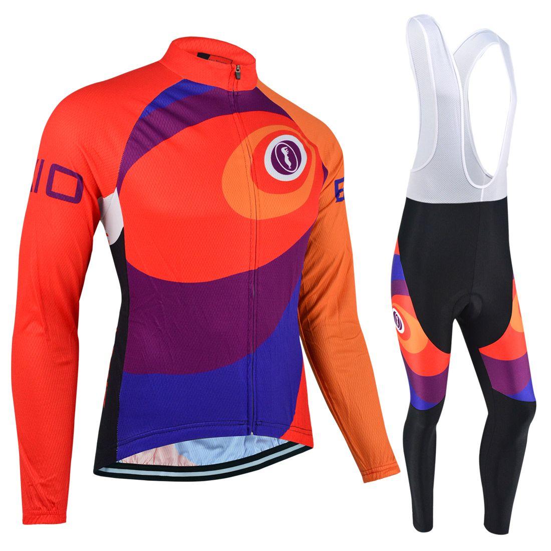 593aa9c84 BXIO Brand Women Cycling Jerseys Set Iridescence Long Sleeve Bicycle ...