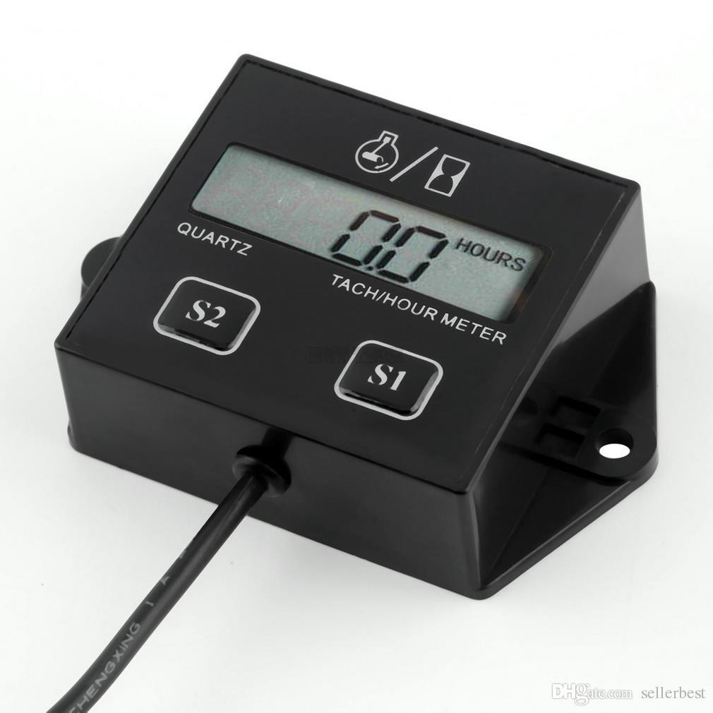 Цифровой ЖК-дисплей двигателя тач час метр тахометр датчик индуктивный для мотоцикла мотор ход двигателя Искра горячая