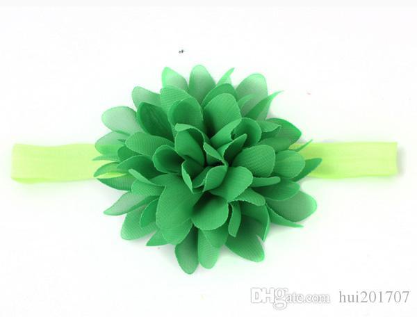 2017 Hot Fashion Style Kinder Haarband Handgemachte Blumen Kopf Tragen Baby Haarschmuck Neun Farben