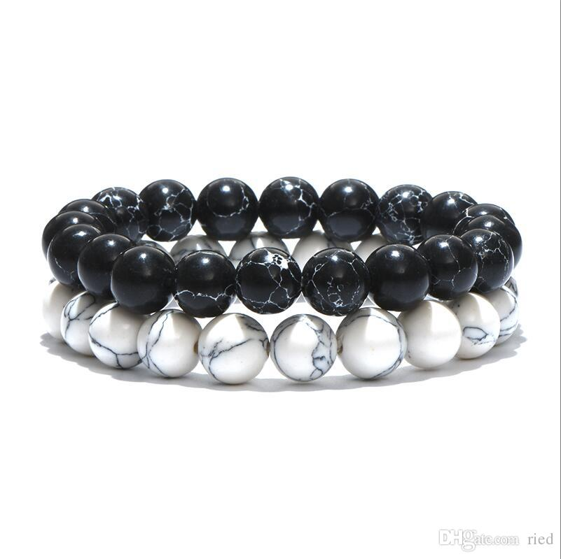 Minimalistischen Naturstein Runde Perle Buddha Armband Tiger Augen Stein Yoga Meditation Armband Für Männer Frauen Schmuck Bijoux