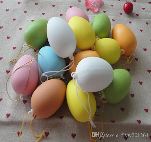 2018 wholesale 6x4cm plastic easter eggs decoration happy easter day 2018 wholesale 6x4cm plastic easter eggs decoration happy easter day egg diy easter gift for children from flyw201264 056 dhgate negle Images