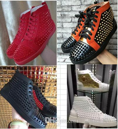 2018 new men shoes red bottom sneakers luxury party