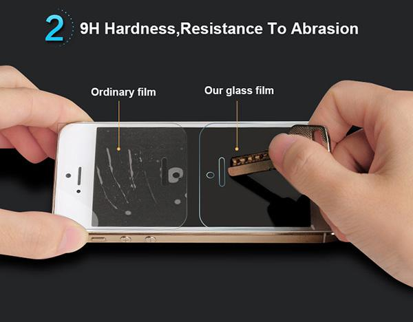 0.3mm Premium Tempered Glass for Samsung Glaxy A3 A5 A7 E5 E7 J1 J5 J7 9H Hard 2.5D Arc Edge Transparent Screen Protector with Clean Tools
