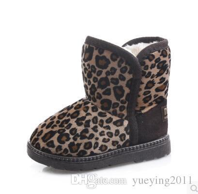 2018 enfants d'hiver bottes en peluche cheville pour les filles plat avec bottes de neige en caoutchouc garçons antidérapants chaussures