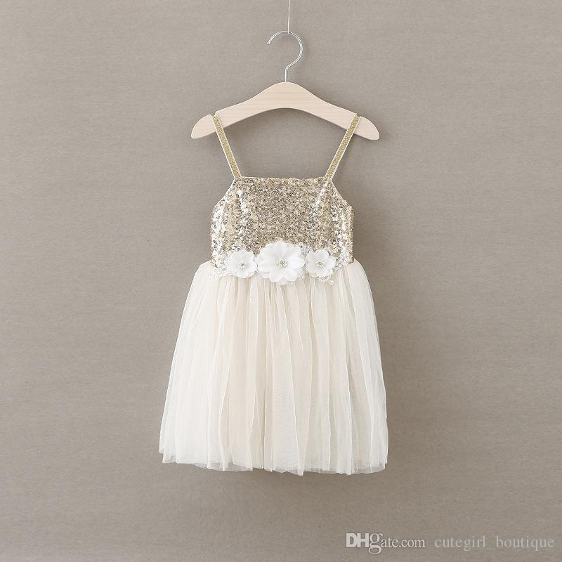 New arrival children cute sequined glitter bow party dress baby girls dress designs girls puffy dresses for kids cheap