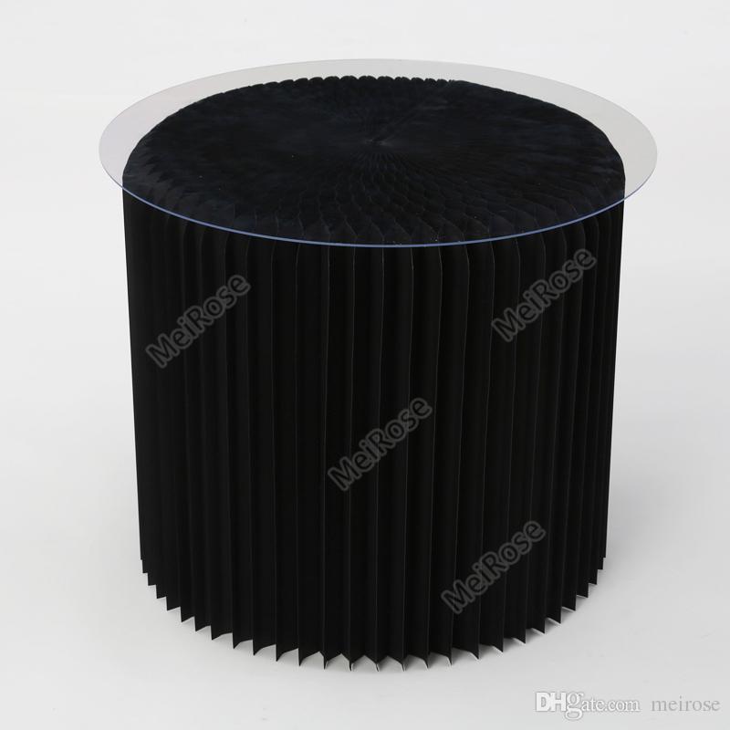 H50xDia56cm 혁신적인 가구 팝 - 작은 테이블 라운드 실내 Teatable 방수 아코디언 스타일 크래프트 작은 표 71-1032 협상