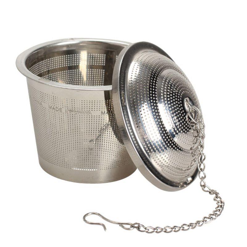 دائم 3 مقاسات الفضة reusable 304 الفولاذ شبكة العشبية الكرة الشاي مصفاة غلاية قفل مرشح infuser LZ187