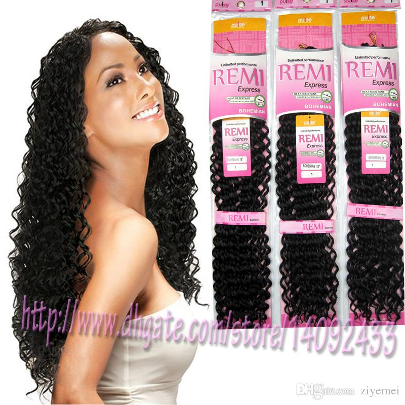 Synthetic Curly Hair Extension Black Water Weave Rope Crochet Hair