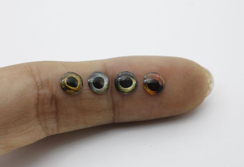 Rompin ojos de pez 5.8mm 3D especial para atraer a la pesca sin pintar Crankbaits Cuerpos señuelo en blanco Minnow cebos duros Tackle Craft