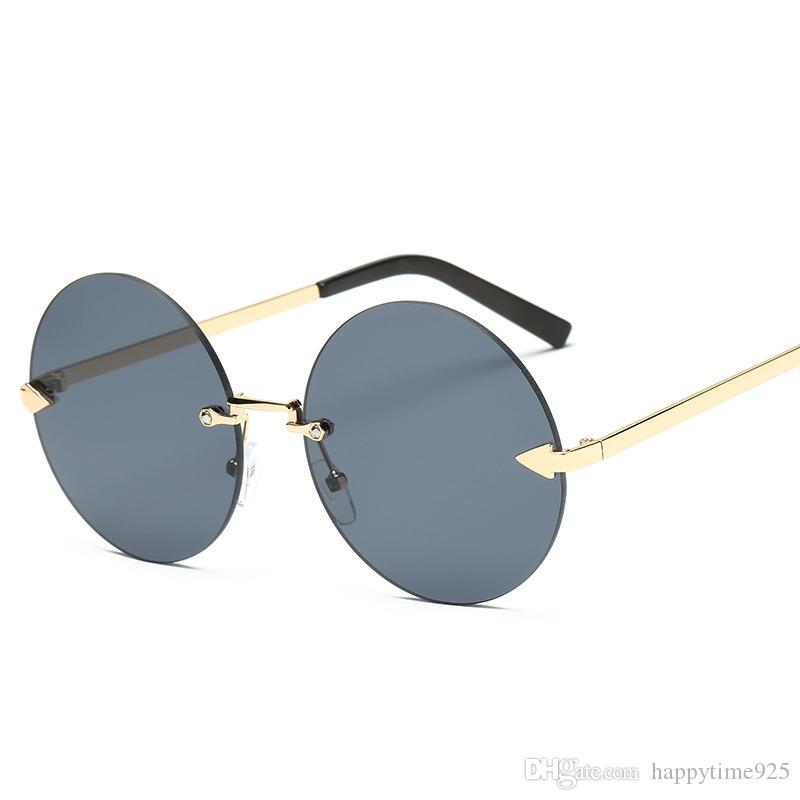 New Arrival Fashion Mirrored Sunglasses Metal Frame ,Clear Lens ...