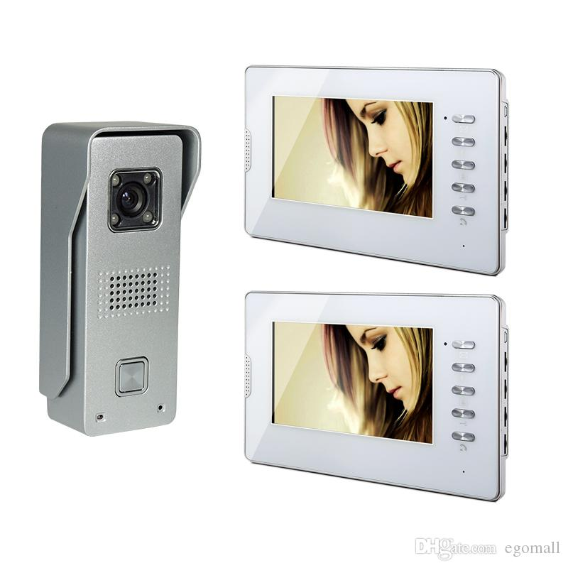 7 Inch Tft Lcd Monitor Color Video Door Phone Wired Doorbell Home