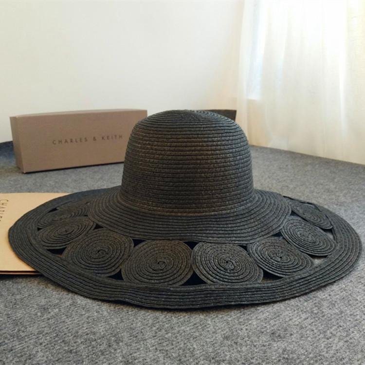 b34e6235cfa Wholesale 2017 Summer Women S Foldable Wide Large Brim Beach Sun Hat Straw  Beach Cap Circular Knitting Retro Elegant Hats Girls Tour Hat Knit Hats  Bailey ...