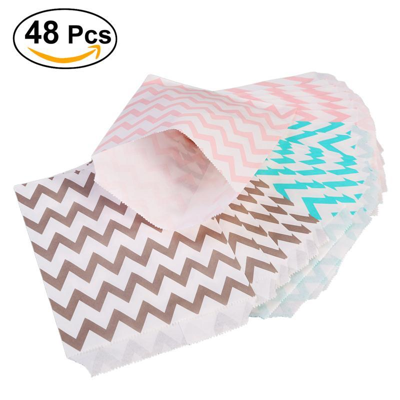 Chevron Treat Sacks Wedding Candy Bar Bags Party Paper Gift Bag ...