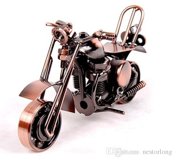 2016 hot sale black Handmade Wrought IronIron motorcycle model crafts ornaments motorcycle models creati DIY Home Decoration Best Gift