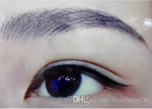 100 Piecs Silber professionelle Permanent Make-up Stift 3D-Stickerei Make-up manuelle Feder Tätowierung Augenbraue Mikroklingen freies Verschiffen