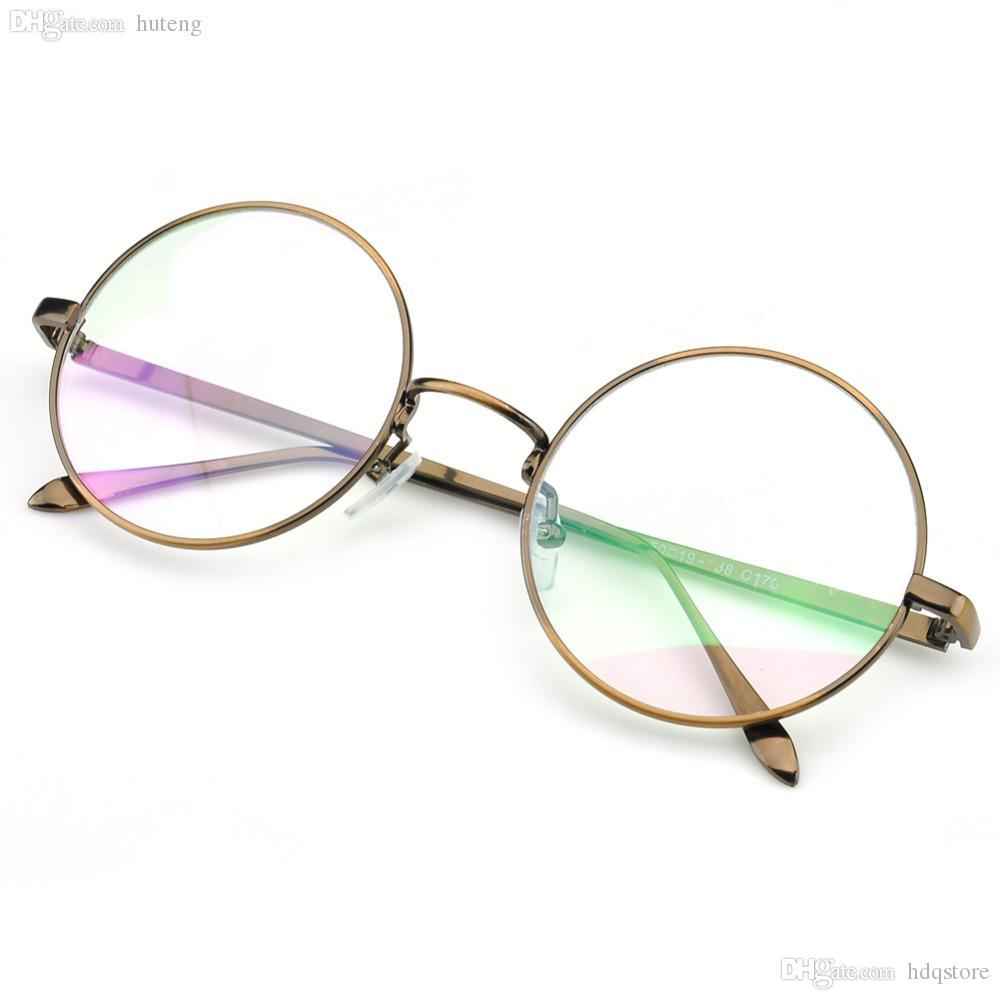 df2f192e3db HOT SALE-PenSee Large Oversized Metal Frame Clear Lens Round Circle ...