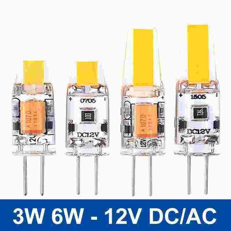 Lampadine Led G4 12v.Acquista Mini G4 Led Lampada Dc Ac 12v Led G4 Light 3w 6w Cob Led