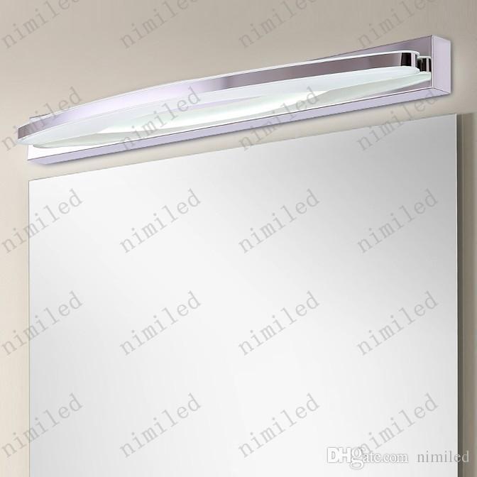 nimi710 L36cm / 54cm Minimaliste Moderne LED Étanche Anti-brouillard Mur Lampe En Acier Inoxydable Salle De Bains Miroir Avant Éclairage Maquillage Luminaire