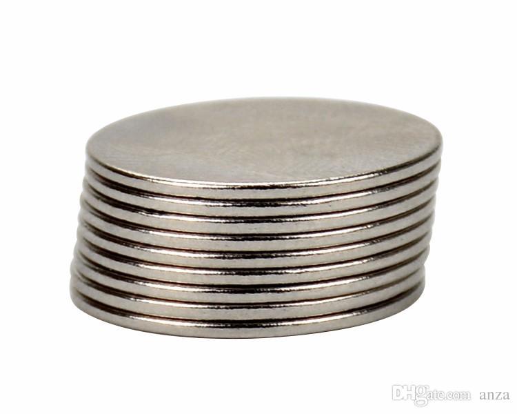 10 adet 20mm * 1mm Yuvarlak Çapı Mıknatıs 20x1 Nadir Toprak Neodimyum Mıknatıslar NdFeB Magneet Neodimio Öğretim Magneten 20 * 1