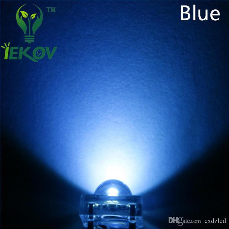 LED 5MM Piranha Blue Super Flux Leds 4pin Dome Wide Angle Super Bright Light Lamp For Car Light High Quality Hot Sale