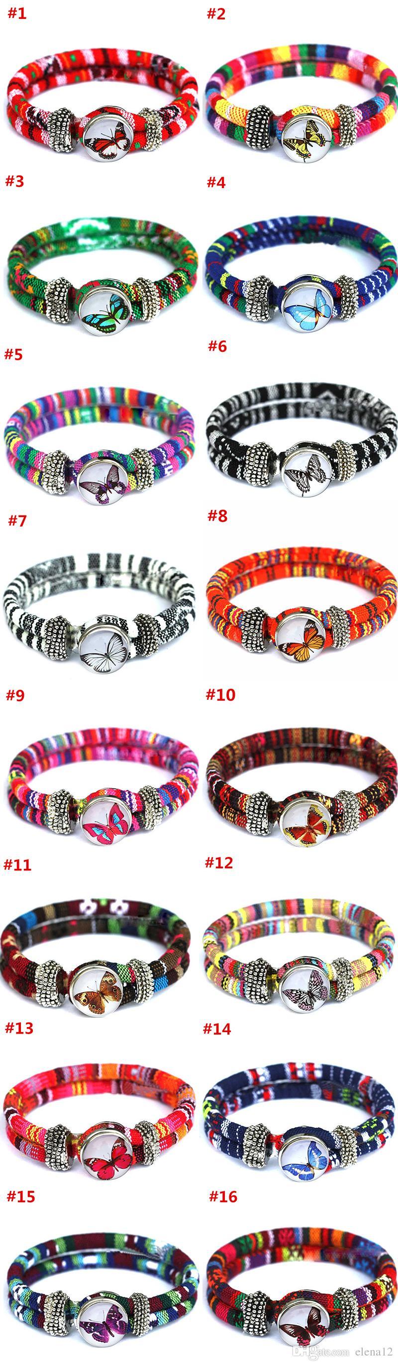 Nuovi braccialetti di fascino nazionale Noosa TrendyBracelet Snap Button Jewelry Wristband Best Gift braccialetto noosa gioielli fai da te 160382