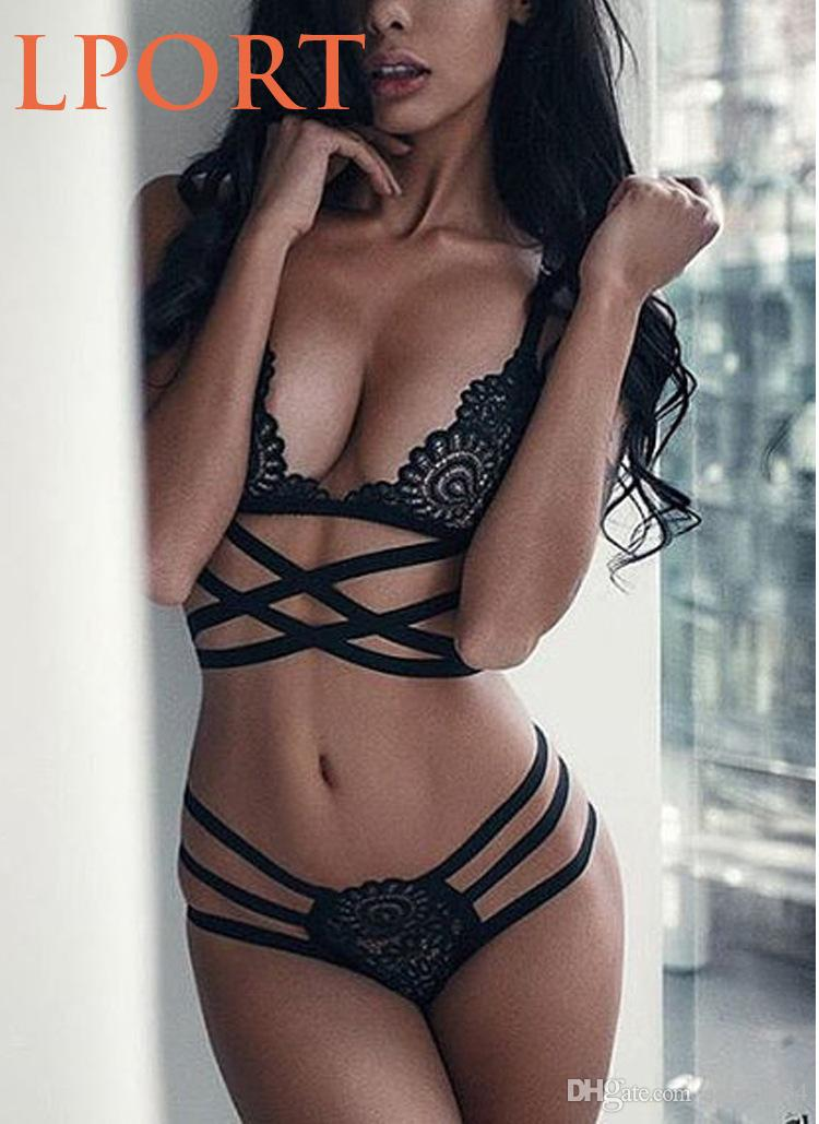 Sexy lingerie Bra set Wirefree Lace cross belt hollow female Fashion bra Underwear Summer Intimate hot selling Style
