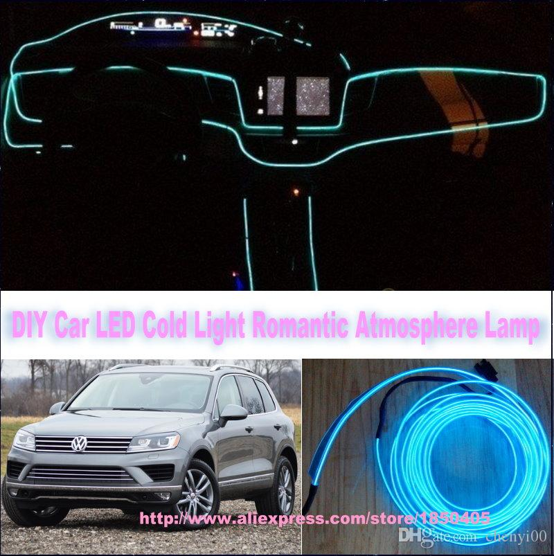 for vw volkswagen touareg diy 9 meters 12v car el cold light led