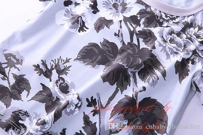 2016 Cutestyles Nouveau Été Vente Chaude Garçons T Shirt À La Mode Fleur Imprimer Garçon Hauts O-cou Enfants À Manches Courtes T-shirts BT90311-002L