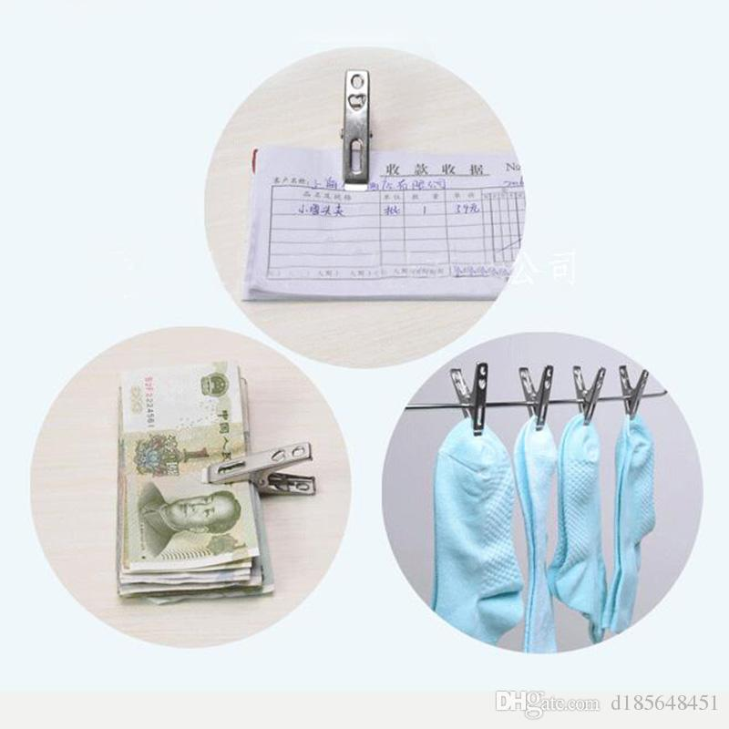 Stainless steel Clothes pegs Metal clip for coat pants laundry drying hanger rack folder washing accessories Novelty household