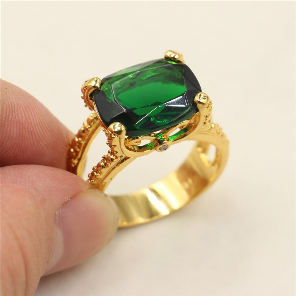 Mens Genuine Emerald Rings Designer