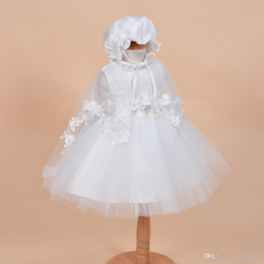 2016 Christening Dress Newborn Baby Girl Clothes Princess Veil ...
