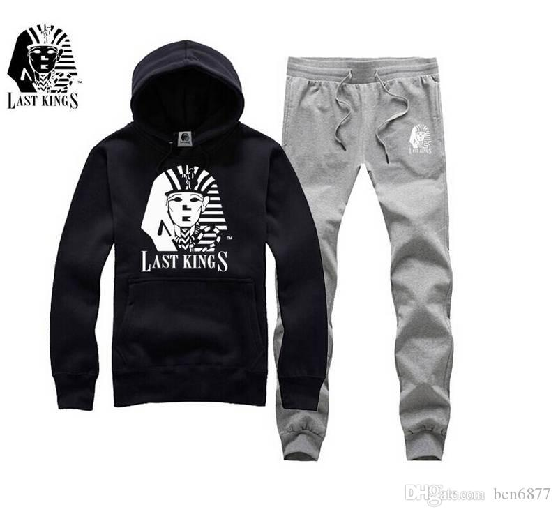 s-5xl Nuovo arrivo hip hop Uomo felpe crusca Ultima re abbigliamento casual wear maschio primavera autunno tuta
