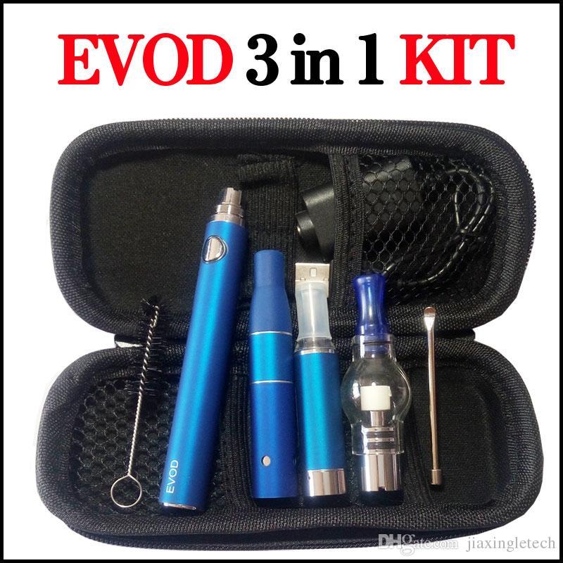Magic 3 in 1 Vaporizer Stift Kit Wachs Trocken Herb Ago G5 E Zigaretten MT3 Glas Globle Atomizer EVOD Batterie 900mAh Starter Kits