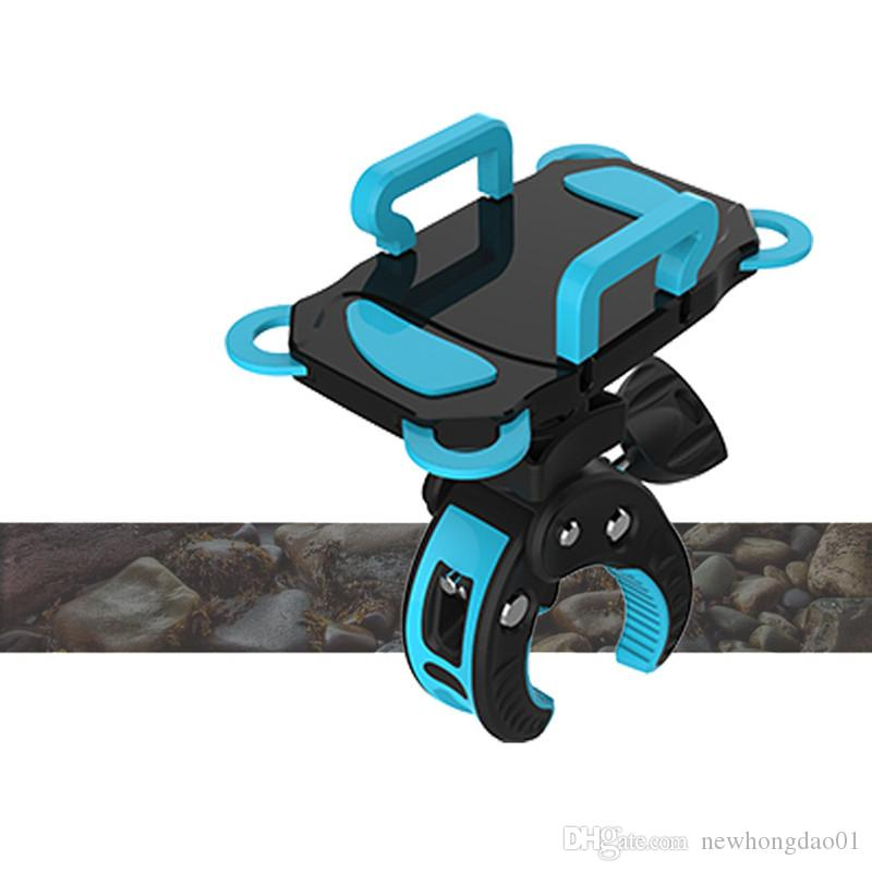 Yeni 41-90mm Ayarlanabilir Genişlik Evrensel Bisiklet Bisiklet Cep Telefonu Dağı / Tutucu 360 Derece Rotasyon ve Kauçuk Kayışlı