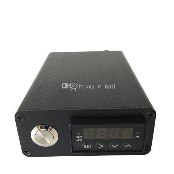 뜨거운 판매 하드 커버 알루미늄 상자 포장 GR2 티타늄 / 석영 하이브리드 못 플랫 10mm / 16mm / 20mm 히터 코일에 맞게 전자 손톱 키트