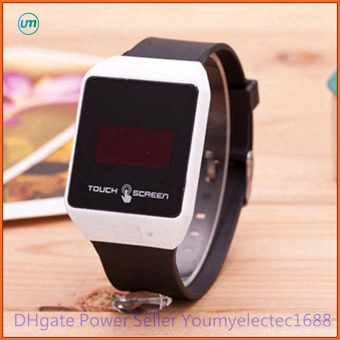 497511b79957 Compre Venta Al Por Menor LED Pantalla Táctil Reloj Para Niños Mujeres  Hombres   Silicona Relojes Deportivos 2016 Venta Caliente A  1.61 Del ...