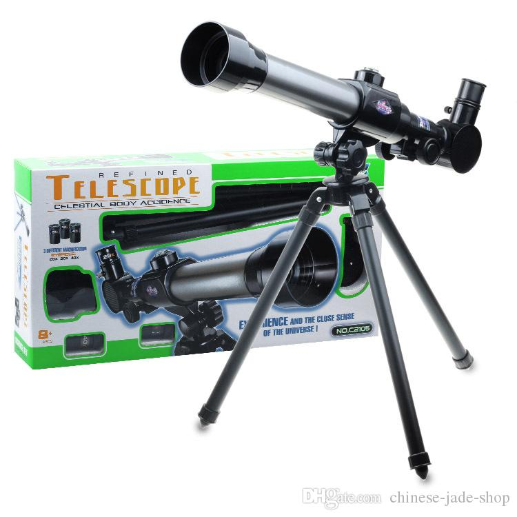 Monocular Space Astronomical Telescope With Portable Tripod Spotting Scope 40X telescopic Telescope eyepieces for children gift 15pcs/lot