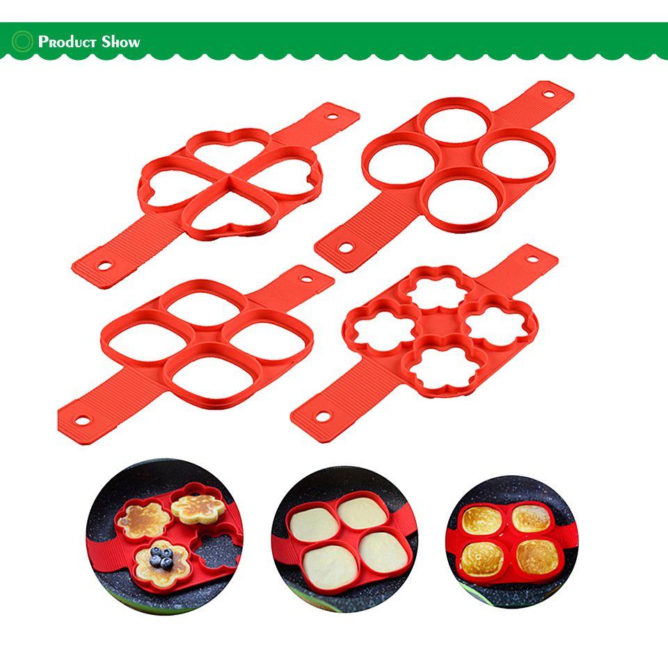 Silicone Pancake Maker Egg Ring Maker Nonstick Easy Fantastic Egg Omelette Mold Kitchen Gadgets Cooking Tools 2017 New
