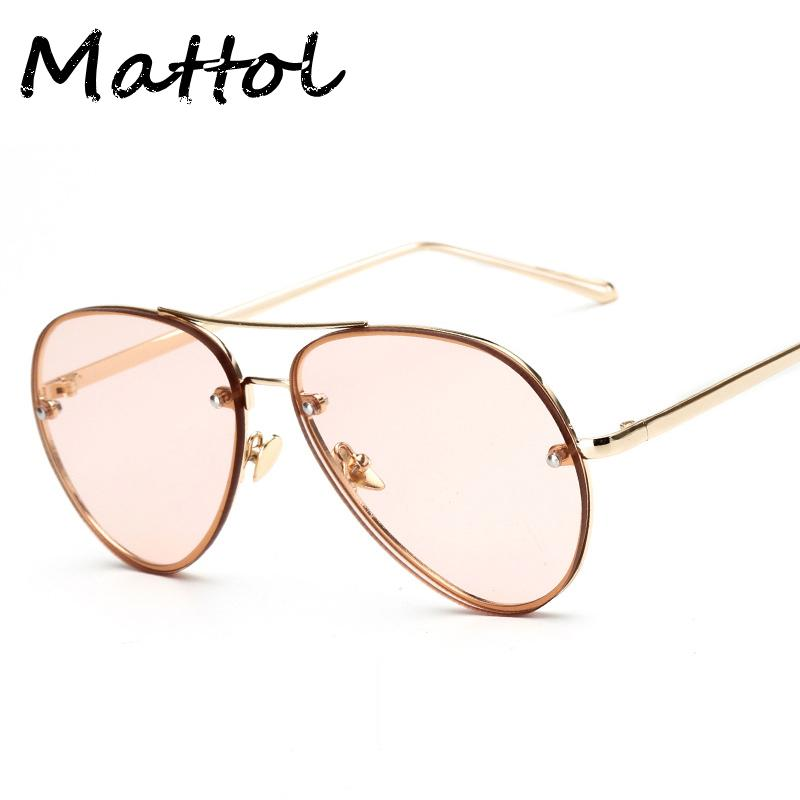47968cadff35 ... Sunglasses High Quality Half Frame Glasses Men And Women Brand Design  Sweet Eyewear Gradient 990926 2 Mirror Sunglasses Boots Sunglasses From  Juaner