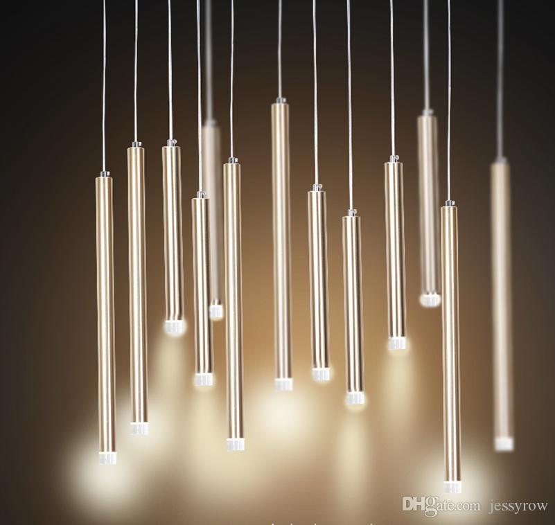 Led Pendant Light Single L& Long Bar Design Saving Energy Luxury Golden Aviation Aluminum D3 H30 Or 50cm White Pendant Light Red Pendant Light From ... & Led Pendant Light Single Lamp Long Bar Design Saving Energy Luxury ...