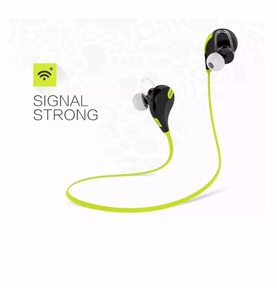 QY7 Wireless Bluetooth Earphone Headset Sport Heandphone Running Earphones For Iphone 5s 6 plus Samsung Galaxy S4 S5 S6 Edge Note5 OM-CA6