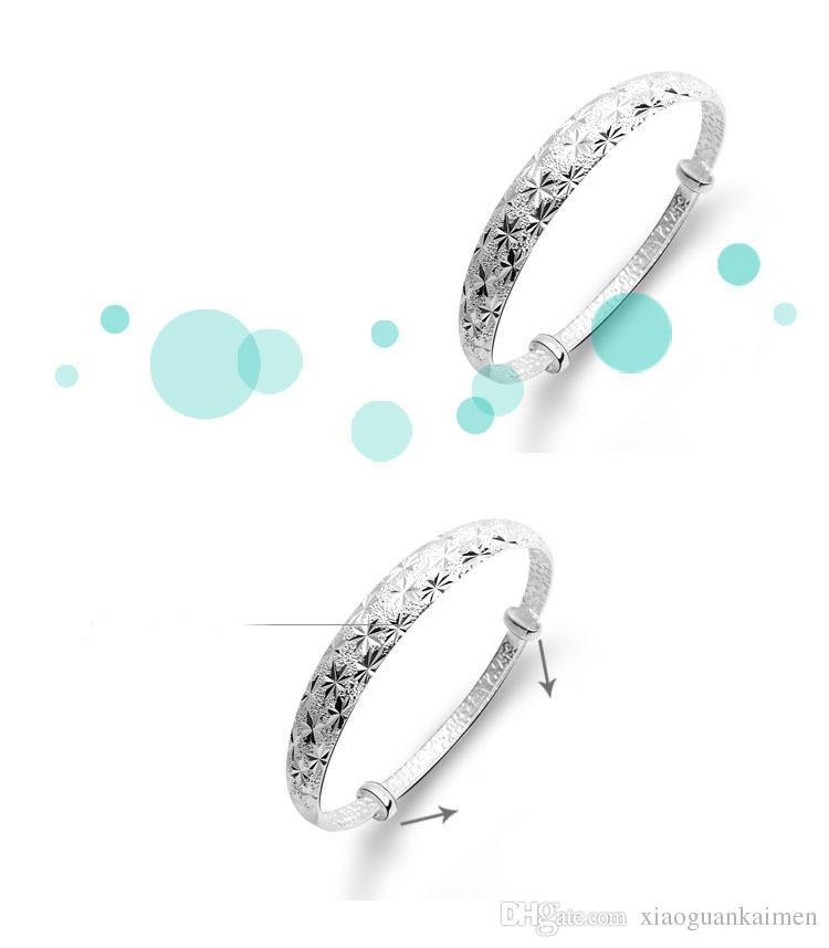 925 silberne Marken-Armband-Frauen-Spitze-Art- und Weiseschmucksachen ganz über dem Stern-Armband des Himmels-Stern-925 silbernen freiem Verschiffen