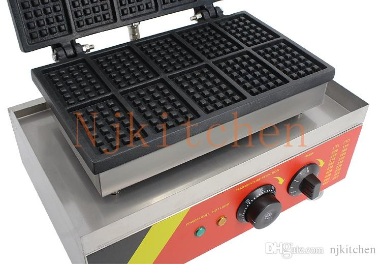 Factory supply 110v 220v Industrial Electric Belgian Mini Waffle Maker Toaster Machine