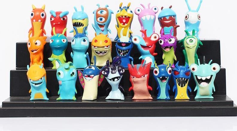 Hot sale Slugterra PVC Dolls 24Pcs/set 4-5cm Cartoon Slugterra 2 Action Figures PVC Plastic Dolls Toys Gift For Christmas Gift Free Shipping