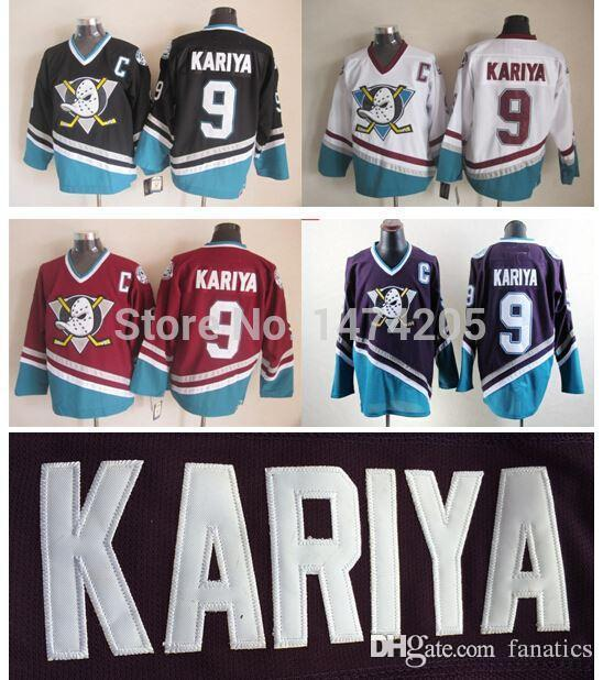 f4e2bf0d1 2019 2016 Cheap Paul Kariya Jersey  9 Anaheim Ducks Jersey CCM Vintage  Mighty Ducks Of Anaheim Jerseys Kariya Purple Turquoise From Fanatics